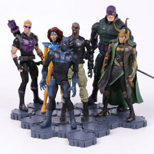 MARVEL UNIVERSE - SET 6 FIGURAS / HAWKEYE, LOKI, ETC / 6 FIGURES SET 15-19cm