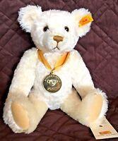 Steiff 2000 Millennium Bear 32 cm EAN666018 Millennium Coin 22-carat Gold-Plated