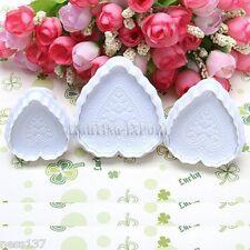 3 Moules Gateaux Forme COEUR Emportes Pieces Cake design Pate à Sucre & d'Amande