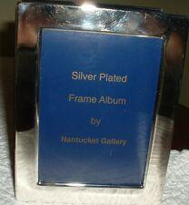 Vintage Silver Plated/Velvet Frame/Photo Album