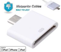 30Pin Female to Micro USB 5Pin Male Converter Adapter for Apple iPhone 4S