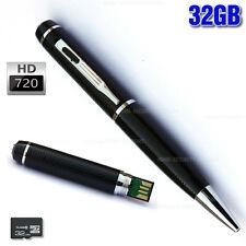 Pen Camera Voice Recorder 720P HD Video 32GB USB drive Security (NO SPY Hidden