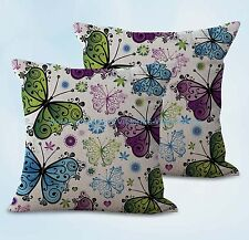 US SELLER, 2pcs cushion pillow covers butterfly cushion cover
