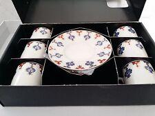 Porcelana Café TURCO & Expreso Juego Otomano Bonito Diseño 6 Tazas & 6 Platillos