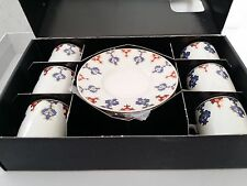 Porcelain Turkish Coffee & Espresso Set Ottoman Nice  Design 6 Cups & 6 Saucers