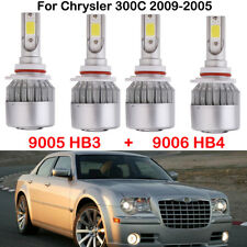4X 9005 HB3 9006 HB4 LED Headlight Kits Bulbs For Chrysler 300C 2009-2005 6000K