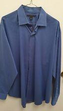 Banana Republic Men's Dress Shirt Size 16-161/2 Large 100% Cotton Blue Long Slv