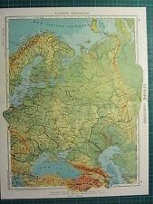 1921 MAP ~ EASTERN EUROPE  RUSSIA CRIMEA FINLAND PHYSICAL UKRAINE