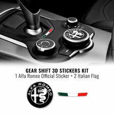 Kit Adesivo Alfa Romeo Logo 51 mm + Bandiera per Interno Giulia Stelvio