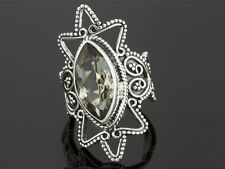 4.00ct Marquise Brazilian Prasiolite Solitaire Sterling Silver Ring size 6