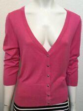 White House Black Market Size S 3/4 Sleeve V-Neck Pink Cardigan