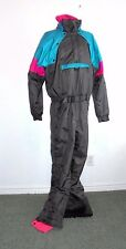 VTG NEVICA FUNCTION 18 SYSTEMONE PIECE ZIP APART SKI SUIT BIB WINTER SNOW  Sz.42