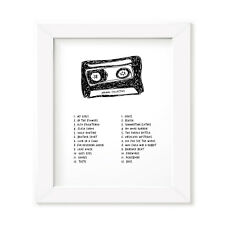 Animal Collective Mixtape Poster, Framed Original Art, Album Print Lyrics Gift