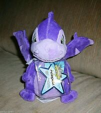 Neopets Purple Scorchio Plush Toy Series 3, Unused/Sealed Keyquest Code, New