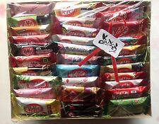 Japanese kitkat mini kit kats 32P NEW melon cookie&cream strawberry cheese cake