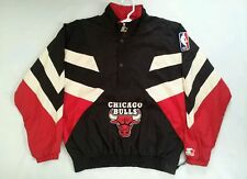 VINTAGE RARE STARTER AUTHENTIC CHICAGO BULLS WINDBREAKER PULLOVER JACKET SIZE XL