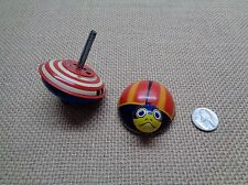 Vintage Tin Litho FRICTION Ladybug Toy AND Tin Top