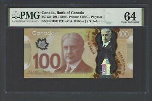 Canada 100 Dollars 2011 BC-73c Uncirculated Graded 64