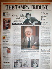 1997 newspaper DEATH of RED SKELTON Television & radio comedian CLOWN PICTURES