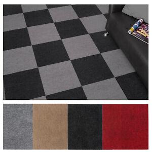 Teppichfliesen Selbstklebend 40 x 40 cm Teppichboden Bodenbelag ab 6,87€/m²