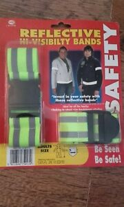 Reflective hi visibility wrist and waist bands new