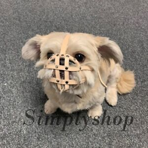 Light leather Dog Muzzle for Pug Shih Tzu flat face faced short snout dog's .
