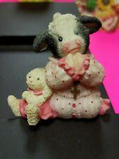 Mary Moo Moos Figurine - Jesus Loves Moo Girl Pink