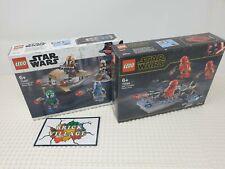 Lego Star Wars Battlepack Bundle 75267 Mandalorian & 75266 Sith Troopers. New