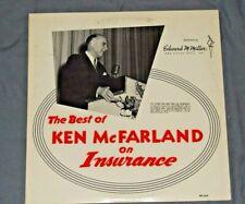 Best of KEN MCFARLAND On Insurance SPOKEN WORD LP sales marketing vintage