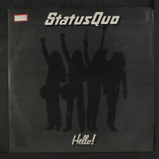 STATUS QUO: Hello! LP (Brazil, sm tag/woc, promo rubber stamp ol) Rock & Pop