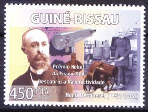 Henri Becquerel Nobel Physics Winner, Radioactivity, Guinea Bissau 2008 MNH