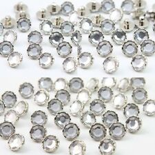 Wholesale DIY 100PCS  11mm Buttons Acrylic Rhinestone Glass Faceted Sewing Craft