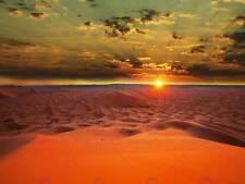 Fotografia PAESAGGIO TRAMONTO SAHARA DESERT DUNE DI SABBIA ART PRINT POSTER mp5619b