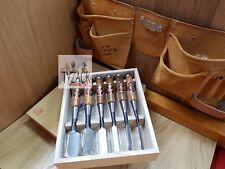 Oire Nomi japonés de banco conjunto de cincel carpinteros Cinceles 6pc Set + Gratis Bolsa De Herramientas