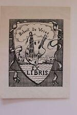 ✒ EX LIBRIS Hubert de Vries (1899-1979) peintre