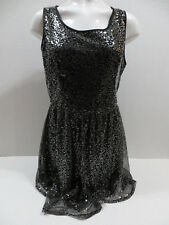 Mac + Jac dress XL sequined overlay lined sleeveless holiday party sparkle
