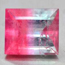 9.83 Cts Natural Top Bi Color Tourmaline Baguette Cut Loose Gemstone Brazil Rare