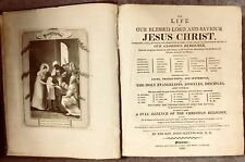 Antique Chistian Book Fleetwoods Life Of Jesus Christ First Edition 1810
