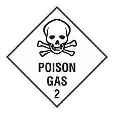 1x POISON GAS Sticker Caution for Laptop Tablet Bumper Fridge Safety Toilet PC