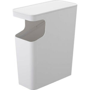 YAMAZAKI home Tower Side table and Trash can White - 3988 From Japan