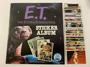 1982 Topps UK : E.T. Sticker Set & Album - Rare