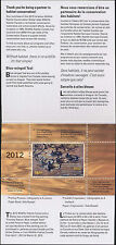 CANADA 2012  DUCK STAMP IN FOLDER  BLUE WINGED TEAL by  Patricia Pepin