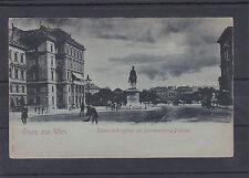 AK Wien Mondscheinkarte Schwarzenbergplatz mit Denkmal ungelaufen ca. 1900