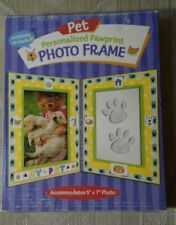 Pet Personalized Pawprint 5x7 Photo Frame Plaster Mold Stickers Instructions