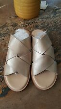 Ladies Clarks Leather Slip On  Sandals Willow art Champagne Size UK 5.5 New £55