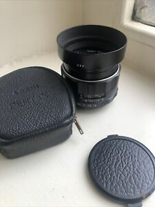 Pentax TAKUMAR F/1.8 standard 55mm manual Lens in exec condition Original Hood