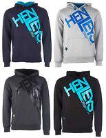 New Mens Henleys Logo Hooded Sweatshirt Jumper Sweater Hoodie Hoody Pullover