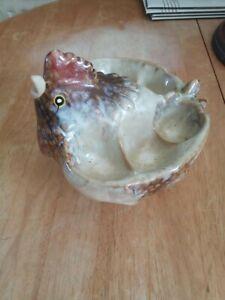 vintage ceramic chicken egg holder vgc