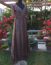 Nataya Brown Titanic Dress Sz Small, NWOT