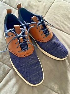 Cole Haan 2.ZERØGRAND Saddle Oxford Size 10.5 Navy/Brown